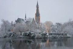Kerk in winter