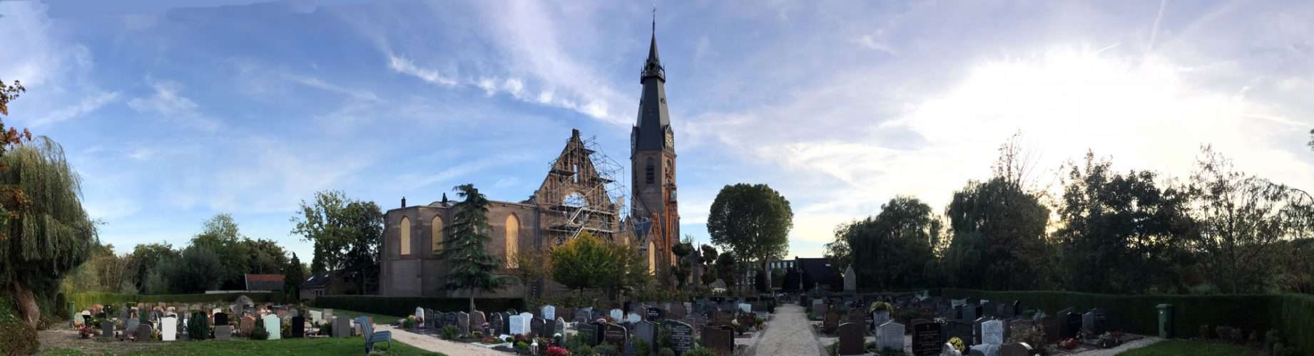 St. Urbanuskerk Bovenkerk - na de brand per 15 september 2018