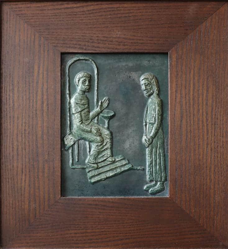 1e statie: Jezus wordt ter dood veroordeeld