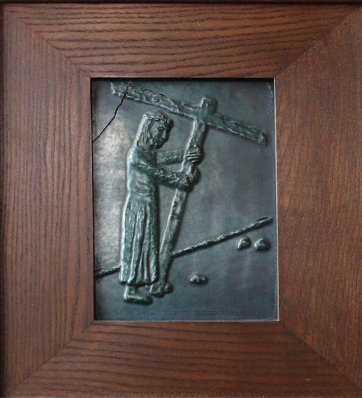 2e statie: Jezus neemt het kruis op Zijn schouder