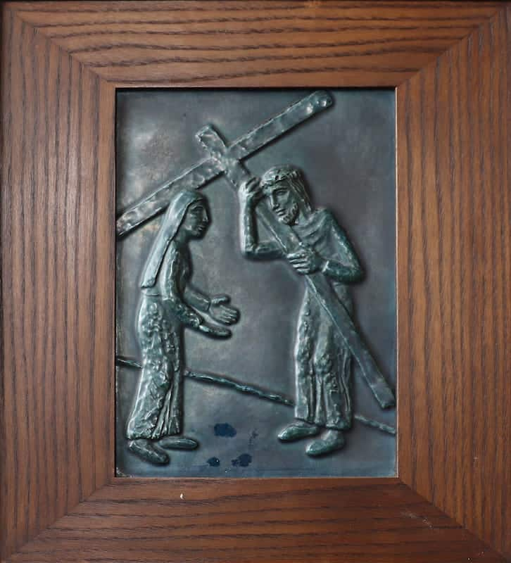 4e statie: Jezus ontmoet zijn Heilige Moeder