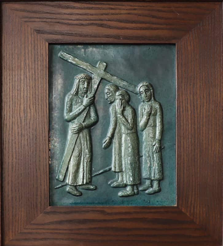8e statie: Jezus troost de wenende vrouwen