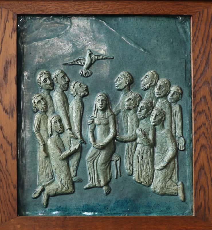 16e statie: De komst van de Heilige Geest