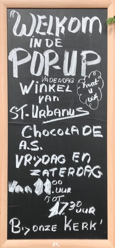 Pop-up store St. Urbanus Chocolade